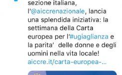"""In corso la """"Settimana europea dell'uguaglianza"""""""