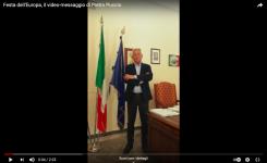 Festa dell'Europa, il video-messaggio di Pietro Puccio